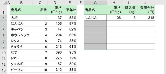G4~G9を選択