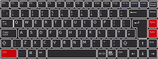 キーボードで[Ctrl]+[PageDown]/[PageUp]を押下