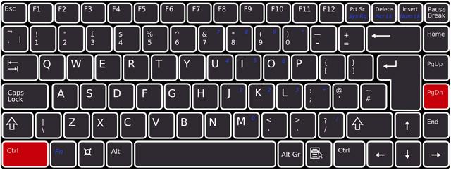 キーボードで[Ctrl]+[PageDown]を押下