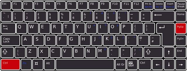 キーボードで[Ctrl]+[PageUp]を押下