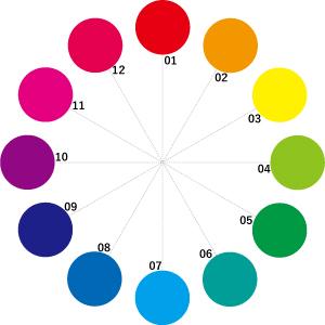 Vdの12色相環