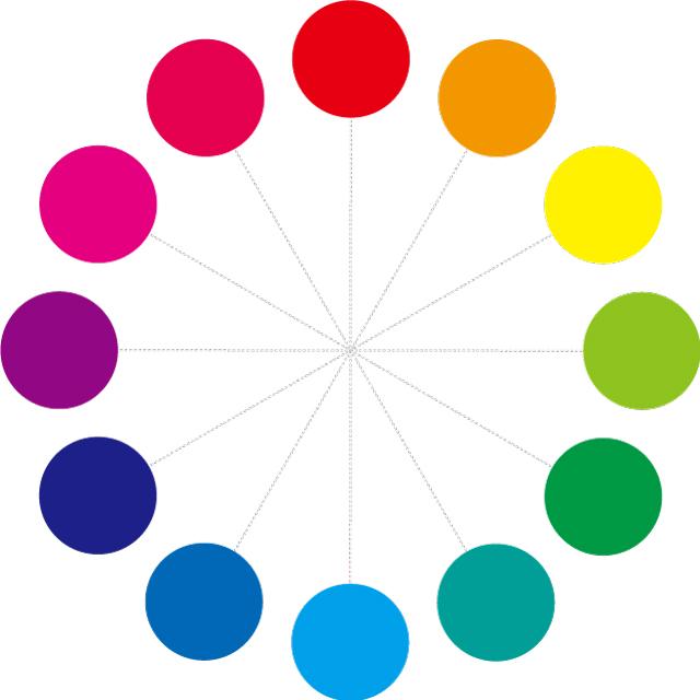 ビビットの12色相環