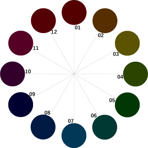 Vkの12色相環