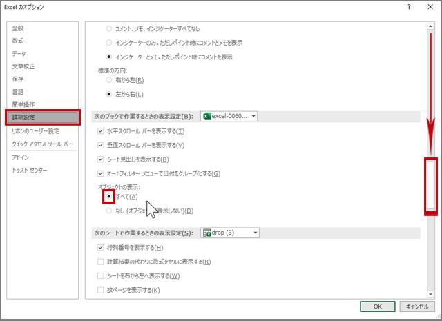 Excelのオプション[詳細設定]
