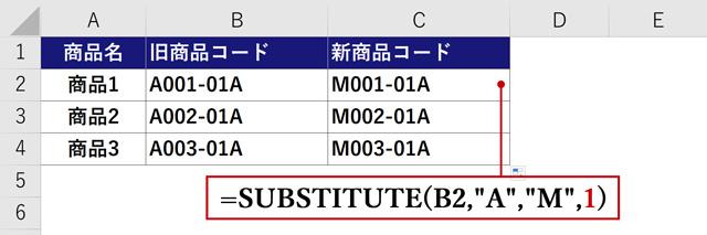 置換対象1の例2