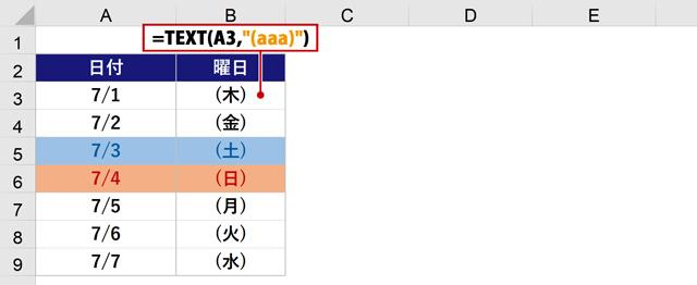 TEXT関数((aaa))