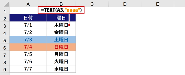 TEXT関数(aaaa)